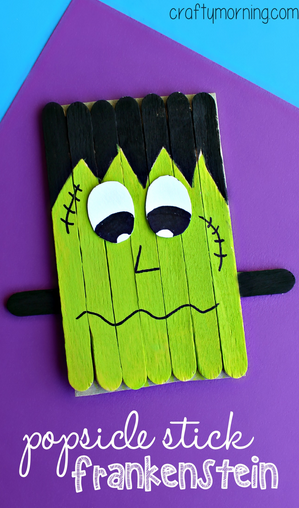 Halloween Kid Crafts Popsicle Sticks