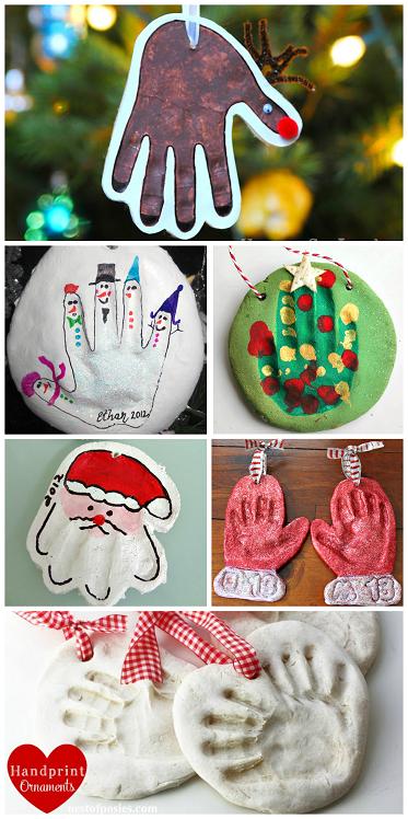 Homemade Salt Dough Handprint Ornaments Crafty Morning