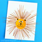 Spaghetti Lion Craft for Kids