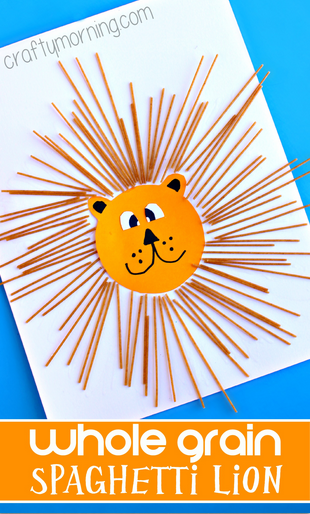 Spaghetti lion craft for kids crafty morning for Lion crafts for toddlers