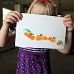 Thumbprint Pumpkin Patch Craft for Kids