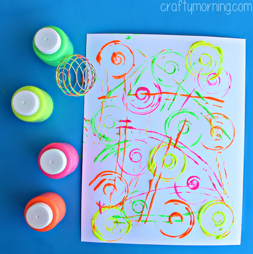 blenderball wire whisk painting activity for kids - crafty morning