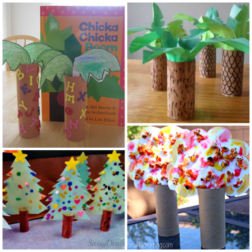 Toilet paper roll tree craft ideas for kids crafty morning for Toilet paper roll art projects