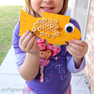 Cheerios Fish Craft for Kids to Make