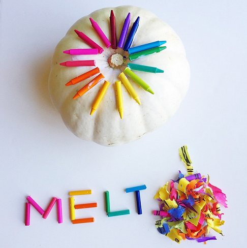 Melted crayon pumpkin decorating idea crafty morning - Making a pumpkin keg a seasonal diy project ...