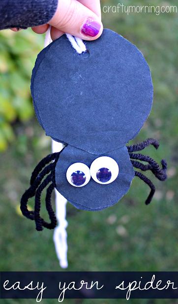 easy-yarn-spider-craft-for-kids