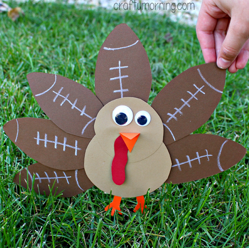 Football Turkey Craft For Kids To Make Crafty Morning