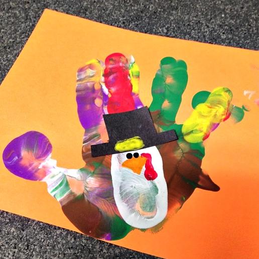 Handprint Turkey Craft For Thanksgiving