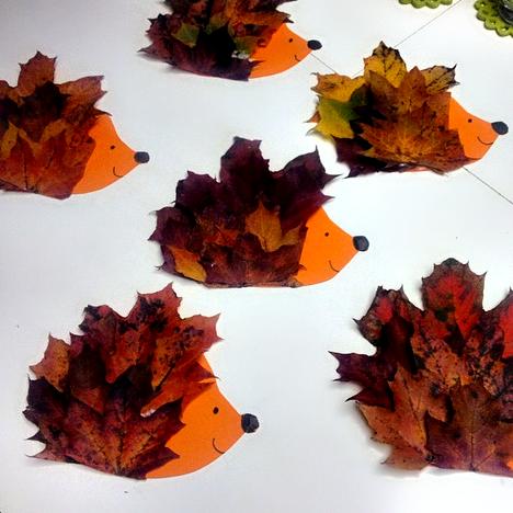 leaf-hedgehog-craft-for-kids-to-make- & Make a Hedgehog Craft Using Leaves - Crafty Morning
