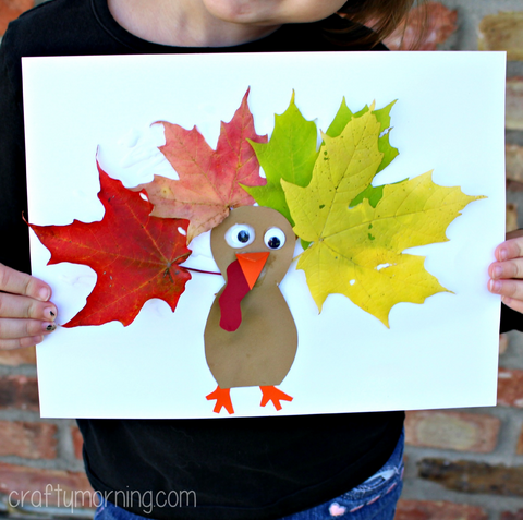 Leaf Turkey - Crafty Morning