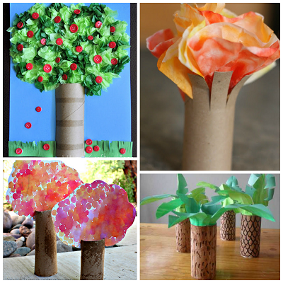 Toilet paper roll tree craft ideas for kids crafty morning mightylinksfo Choice Image