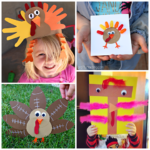 Artistic Turkey Crafts for Kids to Create