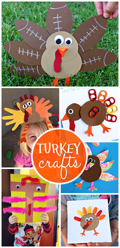 Artistic Turkey Crafts For Kids To Create Crafty Morning