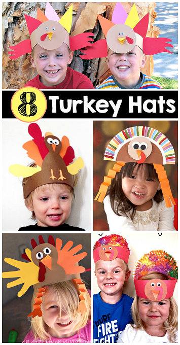 8 easy turkey hats for kids to make crafty morning for Craft hats for kids