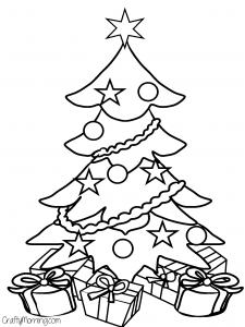 christmas tree free coloring page