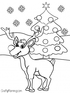 rudolph the reindeer christmas coloring page