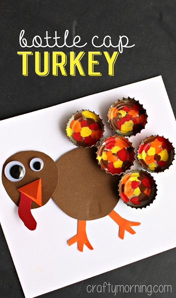 bottle-cap-turkey-craft-for-thanksgiving