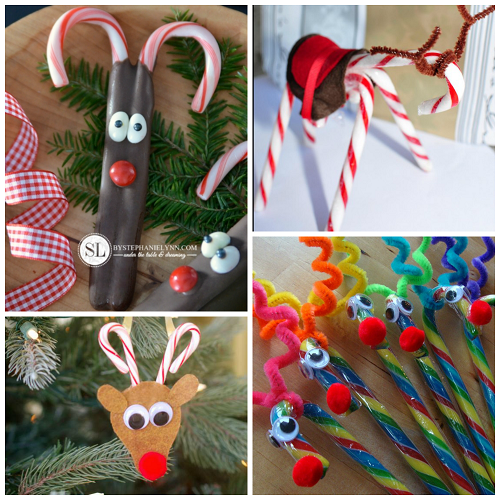 candy-cane-reindeer-craft-ideas - Candy Cane Reindeer Craft & Gift Ideas - Crafty Morning
