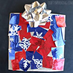 Cardboard Christmas Present Craft for Kids