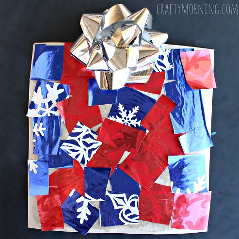 cardboard-christmas-present-craft-for-kids
