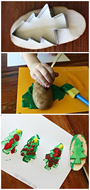 christmas-tree-potato-stamping-craft-for-kids