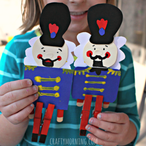 Clothespin Nutcracker Craft for Kids to Make