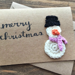 Crochet Snowman Christmas Card Idea