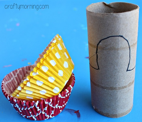cupcake-liner-toilet-paper-roll-turkey-craft
