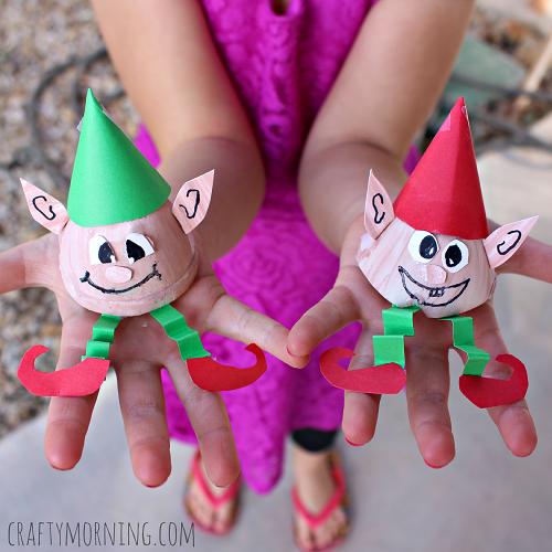 egg-carton-elf-christmas-craft-for-kids