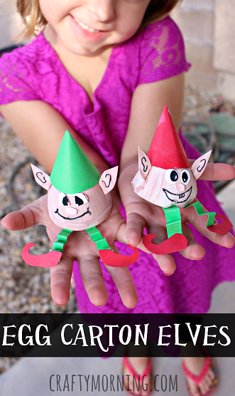 egg-carton-elves-craft-for-kids