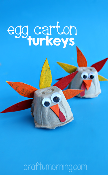 Egg Carton Turkey Craft For Thanksgiving Crafty Morning