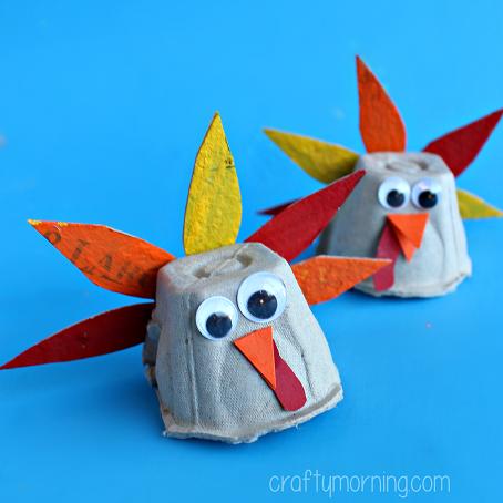 egg-carton-turkey-craft