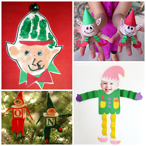 elf crafts for kids to make at christmas crafty morning - Elf Christmas Decorations
