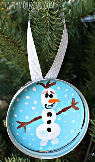 frozen-olaf-fingerprint-mason-jar-lid-ornament-for-kids