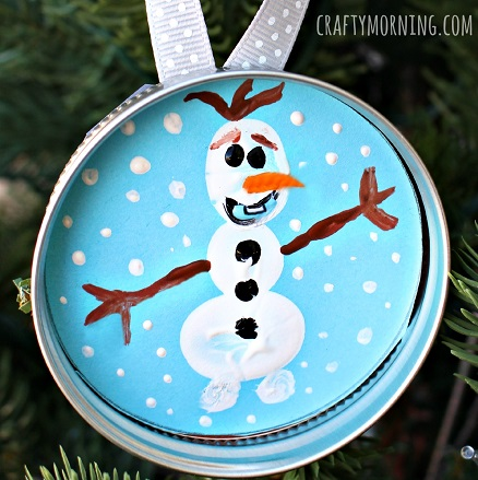 frozen-olaf-fingerprint-ornament-for-kids