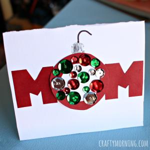 Homemade Christmas Card for Mom