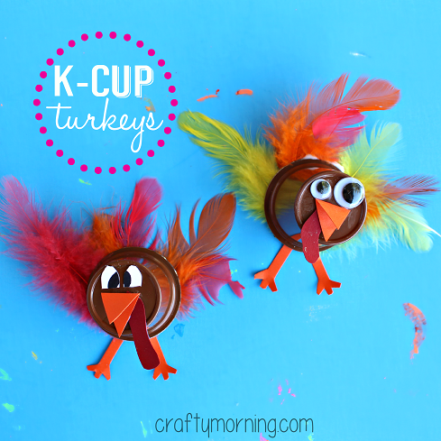 Upcycle K-Cups to Make a Turkey Craft