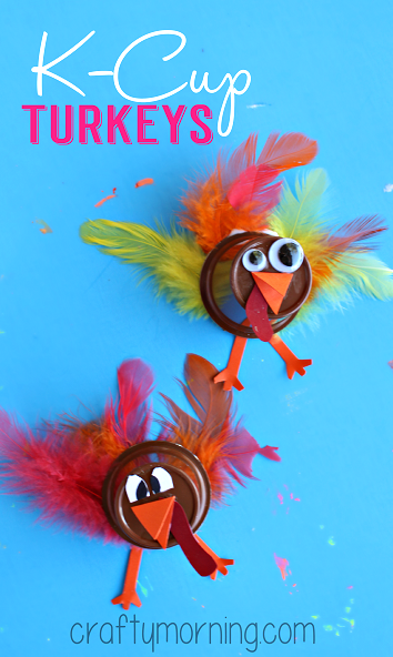 Upcycle K Cups To Make A Turkey Craft Crafty Morning