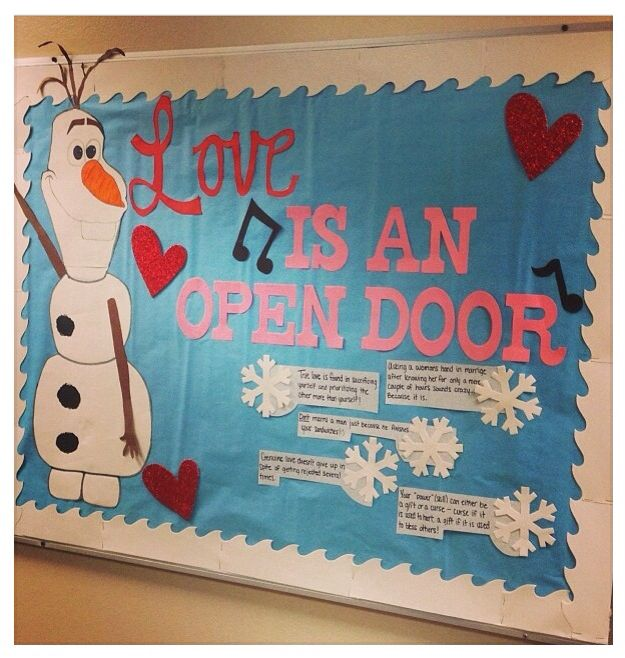 The Gallery For gt Olaf Classroom Door Decorations