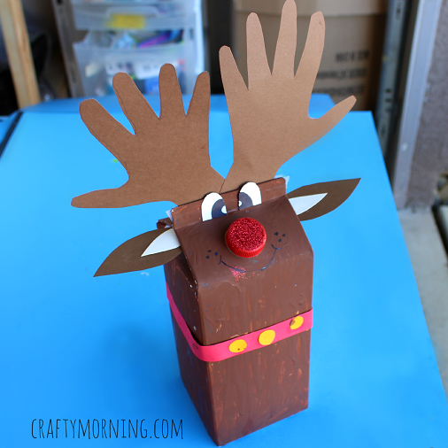 milk carton craft ideas milk reindeer craft for crafty morning 4940