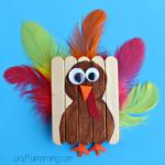 Cute Mini Popsicle Stick Turkey Craft
