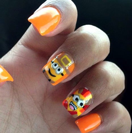 minion-thanksgiving-nails