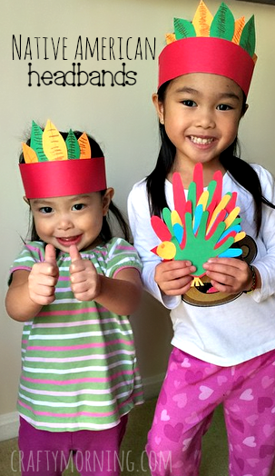 easy native american headband craft for kids crafty morning