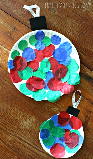 Paper plate christmas ornament craft for kids crafty morning for 2 year old christmas ornaments crafts