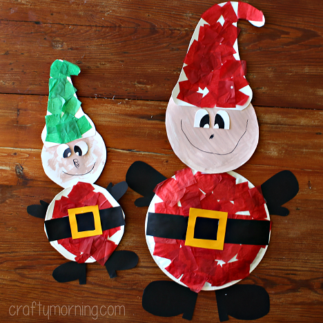paper-plate-elf-craft-for-kids & Paper Plate Elf Craft for Kids to Make at Christmas - Crafty Morning