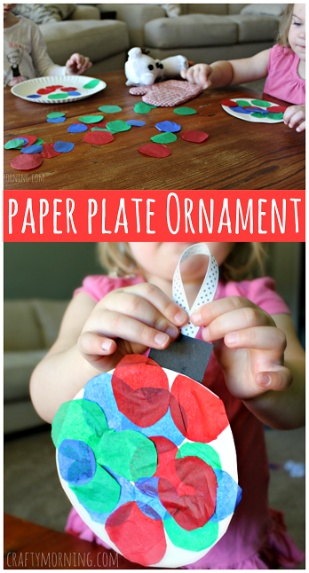 Paper Plate Ornament Craft For Kids On Christmas