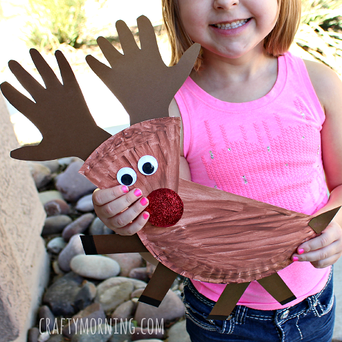 Paper Plate Reindeer Christmas Craft For Kids