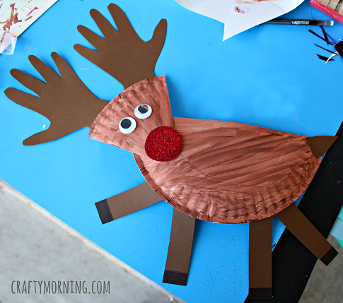 Paper plate reindeer craft for kids crafty morning for Reindeer project