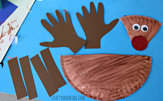 paper-plate-reindeer-kids-craft & Paper Plate Reindeer Craft for Kids - Crafty Morning