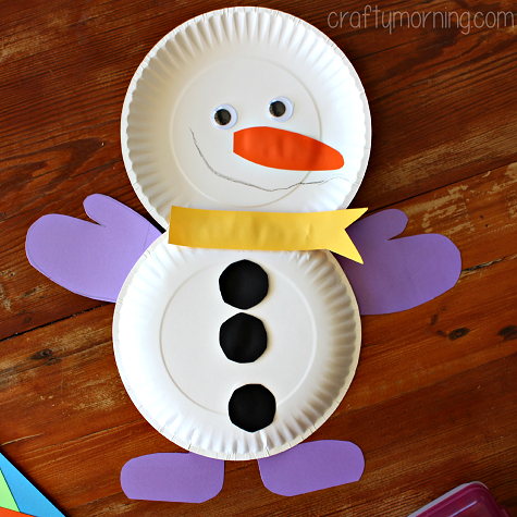 Cute Paper Plate Snowman Craft For Kids Crafty Morning